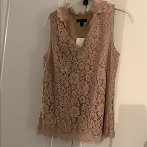 NWT JCREW lace sleeveless top
